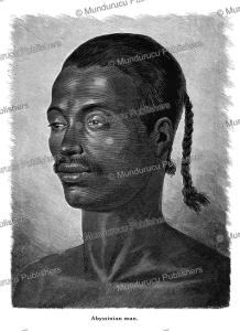 abyssinian man. egypt, alois scho¨nn, 1878