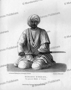 sheikh besner of shendi, sudan, l. bandoni, 1835