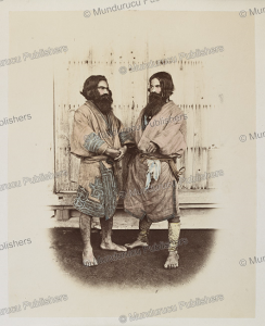 ainu men, baron raimund von stillfried, 1876