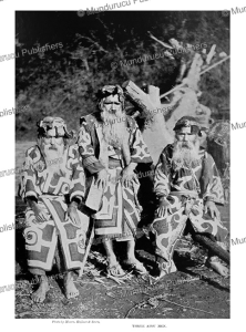 three ainu men, kajima & suuo, 1900