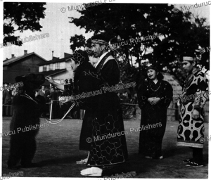 ainu's and a black bear, 1966