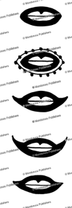 mouth and lip tattoo patter for ainu woman, 1880