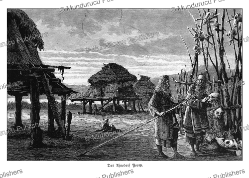 First Additional product image for - The Ainu village Yorop, Gustav Kreitner, 1881