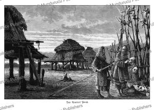 The Ainu village Yorop, Gustav Kreitner, 1881 | Photos and Images | Travel