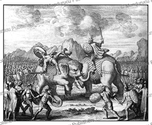 The King of Pegu, now Bago in Burma, leading his army in battle in 1639, Jean-Albert de Mandelslo, 1732 | Photos and Images | Travel