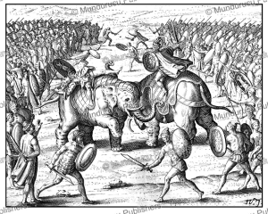 battle between the king of pegu and the king of ava, burma 1604
