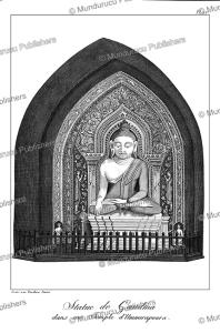 statue of buddha in amarapura, burma, tardieu l'ai^ne´, 1800