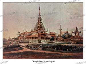 king's palace at amarapura (mandalay), burma, colesworthy grant, 1855