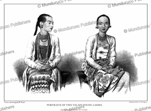 Two Talain young ladies, Burma, Colesworthy Grant, 1855 | Photos and Images | Travel