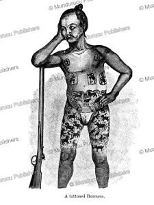 A tattooed Burmese, Burma, Carl Bock, 1885 | Photos and Images | Travel