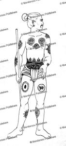 oldest known burmese tattoo design called kaw yit, pre 1700, noel singer, 1988
