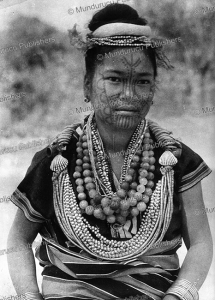 a chinbok lady, burma, 1920