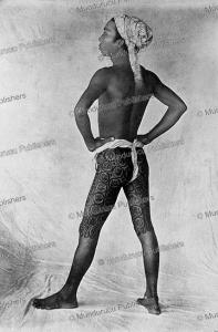 Burmese boy with trouser tattoo, Madalay, Burma, Johannes & Co., 1885 | Photos and Images | Travel