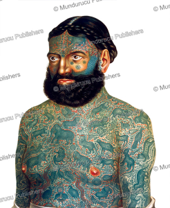 Captain Constentenus, the tattooed Albanian with Burmese designs, Ferdinand von Hebra, 1856   Photos and Images   Travel