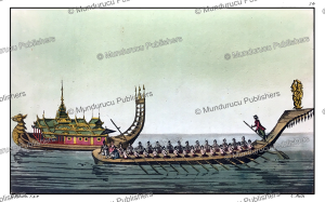 burmese emperor on his boat, jancon, 1880