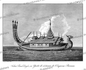 ceremonial yaught of the emperor of burma, tardieu l'ai^ne´, 1800