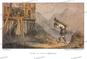 a karen house at layto (bwe´trip), burma, mc. mahom, 1876