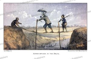 a karen bridge in the delta, burma, mc. mahom, 1876