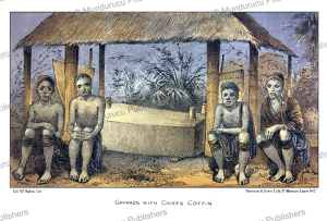 gaykhos karen with chiefs coffin, burma, mc. mahom, 1876