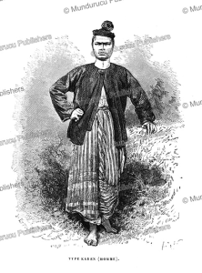 Karen man, Burma, Alphonse de Neuville, 1873 | Photos and Images | Travel