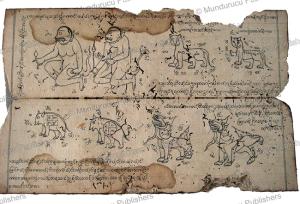 burmese tattoo motifs, 19th century