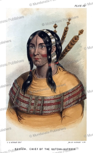 saviah, chief of the kutcha-kutchin, alaska, a.h. murray, 1851