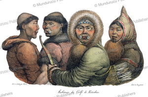 natives from the golf of kotzebue, alaska, louis choris, 1822