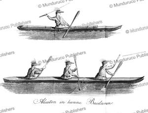 aleutian men in their fishing boats, alaska, c. 1800