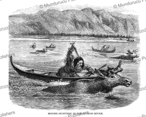 Moose hunting in the Yukon river, Alaska, Frederick Whymper, 1869 | Photos and Images | Travel