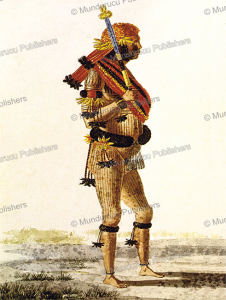 a mundurucu´ chief (tushaua) in ceremonial dress, hercule florence, 1828
