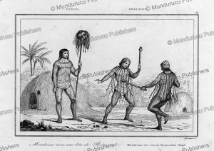Mundurucu´ with a head of the Botocudo warrior, Ferdinand Denis, 1837 | Photos and Images | Travel