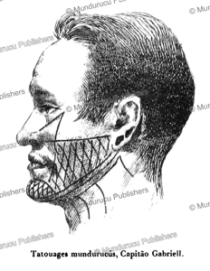 tattooing of a mundurucu´, henri coudreau, 1897