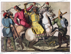 persian soldiers, angelo biasioli, 1820