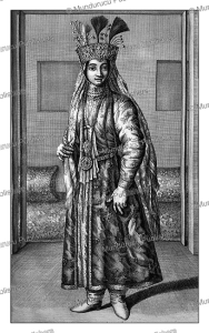 persian woman, cornelis de bruins, 1711