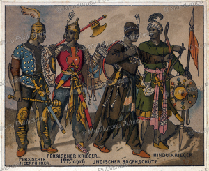 Persian warriors of the 15th century, Persia, from the collection of Hendrik Jacobus Vinkhuijzen, 1910 | Photos and Images | Travel