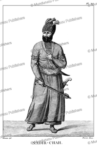 nader shah afshar, shah of persia from 1736 to 1747, meunier, 1807