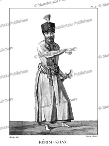 ke´rim khan, shah of persia from 1751 to 1779, meunier, 1807