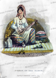 a woman of the harem of the king of persia, frederic shoberl, 1822