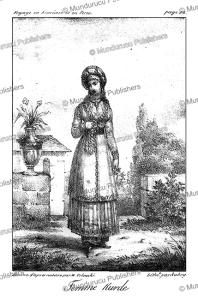 kurdish woman, persia, m. orlowski, 1821