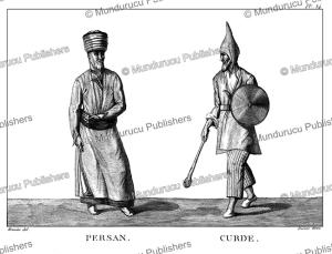 Persian man and Kurdish warrior, Meunier, 1807 | Photos and Images | Travel