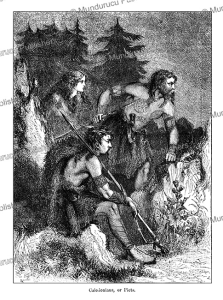 Caledonians or Picts tattooed on the chest, Cassell, 1870 | Photos and Images | Travel