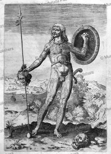 Pict man, Theodor de Bry, 1590 | Photos and Images | Travel
