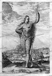 Pict woman, Theodor de Bry, 1590 | Photos and Images | Travel