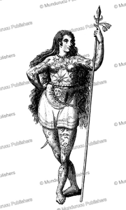 Pict woman fully tattooed, after Theodor de Bry | Photos and Images | Travel