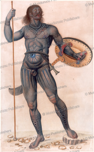 Pict man with tattoos, John White, 1585 | Photos and Images | Travel