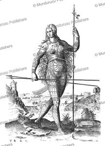 tattooed pict woman, theodoor de bry, 1585
