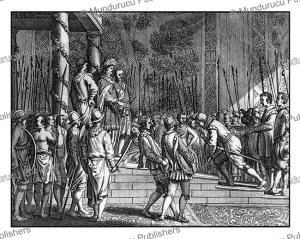 joris van spilbergen meets the emperor of candy in ceylon (sri lanka), philippus baldaeus, 1672