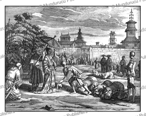 the portuguese general pedro lopes welcoming the empress of candy, ceylon (sri lanka), philippus baldaeus, 1672