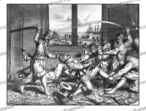king vimaladharmasu¯riya orders the murder of sebalt de weert after insulting him, ceylon (sri lanka), philippus baldaeus, 1672