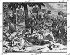 The Governor of Ceylon,  Jacobszoon Coster murdered Rajasingha II of Ceylon (Sri Lanka) in 1640, Philippus Baldaeus, 1672 | Photos and Images | Travel